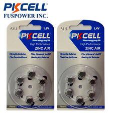 PKCELL 12x Hearing Aid A312 L312ZA 312AE W312ZA 312A S312A 1.4V Zinc Air Battery