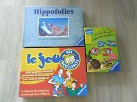 LOT 3 jeux RAVENSBURGER HIPPOFOLIES Maman et ses Petits Le jeu des Incollables