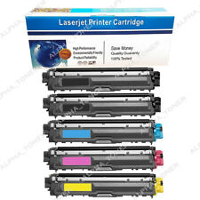 5x High Yield TN225 Toner Replace for Brother MFC-9130CW MFC-9330CDW MFC-9340CDW