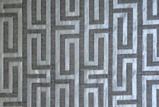 """Chenille Geometric Stone Heavy Duty Washable 58"""" Wide Fabric Sold By The Yard"""