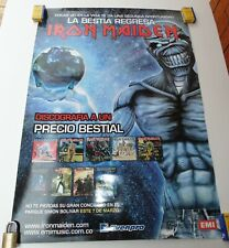 IRON MAIDEN EN COLOMBIA ORIGINAL POSTER EMI MUSIC COLOMBIA 2008