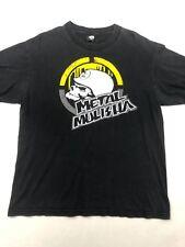 Metal Mulisha Mens T Shirt Black Short Sleeve Graphic Logo Size Large