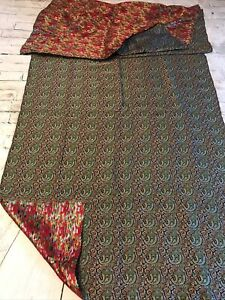 FAB! Antique Persian Handwoven Silk Termeh Multicolor Paisley Tapestry
