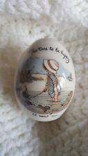 Vintage Holly Hobbie Porcelain Egg, Made in Japan, Label Attached