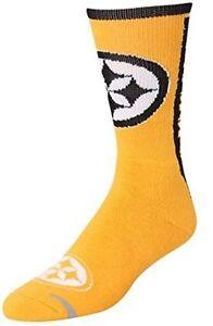 Pittsburgh Steelers Men's Key Sock Limited Crew Socks Large Lg Size 10-13 SHIP
