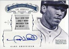 2012 National Treasures Treasure Prime Laundry Tags Gary Sheffield Auto Jersey/4