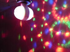 Led Doppel RGB Discokugel E27 220V  6W 360 grad  Party Fest Feier Lampe Licht