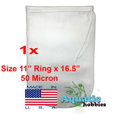 "1x Filter Bag 11"" x 16.5"" 50 Micron Felt Polypropylene Quality Made in USA"