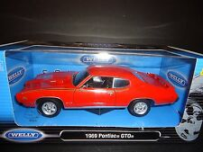 Welly Pontiac GTO 1969 Orange 1/24