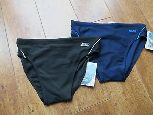 ZOGGS  BRIEF MENS 7CM Trunks Briefs  Swim BLACK NAVY BLUE PERFORMANCE CR25 TORQ