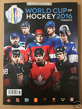 Canada 2016 World Cup of Hockey Official Program - USA Russia Sweden Finland ...