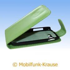 Flip Case Etui Handytasche Tasche Hülle f. Samsung Galaxy Pocket Neo Duos (Grün)