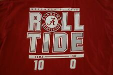 Alabama Crimson Roll Tide LSU Tigers 2016 Game Shirt Sz XL RARE Jalen Hurts