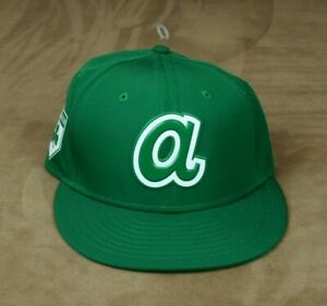 Atlanta Braves St. Patricks A New Era 5950 Baseball Hat Size 6 5/8 Retail $36