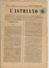 Österreich 1860 1kr balu, Zeitungsstempelmarke BLAUSTEMPEL auf Zeitung!