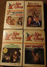Lot of 4 Vintage Walt Disney VHS Clamshell Tapes - Last Flight of Noah's Ark +