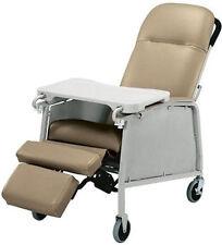 NEW Lumex 574G Three 3 Position Recliner Geri Chair Taupe