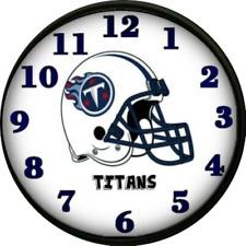 Tennessee Titans Wall Clock Football Team Dorm Room Decor Mancave NFL