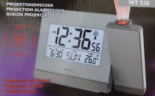 Technoline WT 538 Projektionswecker Projektions Wecker Funkwecker grau - NEU!1
