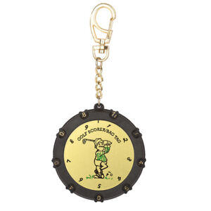18 Holes Golf Score Stroke Shot Counter Keeper with Clip Keychain Accessories
