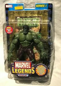INCREDIBLE HULK action figure NEW SEALED Series 1 Marvel Toy Biz stand 2002