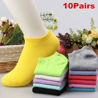 Lot 10Pairs/Pack Women Low Cut Cotton Socks Fashion Boat Ankle Socks Mixed Color