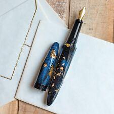 BENU Briolette Collection Jewel Blue & Gold Fountain Pen