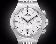 Edox Dolphin The Original Unisex Quartz Watch with Black Dial Analog Display