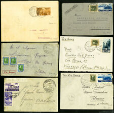 Italy Colonies Rare Lot of 19 Commercial & Air Stamp Covers