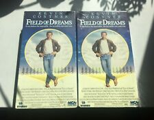 1989 FIELD OF DREAMS Sealed VHS 1990 MCA Home Video RARE MCA logo stamp LOT of 2