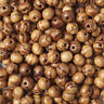 200pcs Natural Brown Round Wooden Loose Spacer Beads 8mm Jewelery DIY Craft vi