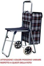 Trolley sacca per la spesa con 2 ruote carrello con seduta