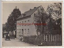 (F4975) Orig. Foto Wohnhaus (Reichenberg o. Seidenberg O.L.?), vor 1945