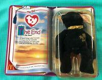 The End Bear Beanie Babies plush toy new 2000 McDonalds TY Millenium series