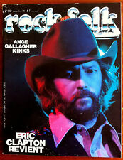 Rock & Folk n°142 du 12/1978; Eric Clapton/ Ange/ Gallagher/ Kinks/ Redneck Rock