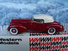 1/43 Western models  (England)  1940 Packard Darrin Super 8 Victoria
