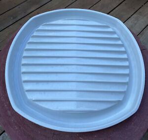 """NORDIC WARE Bacon Meat Rack Tray Microwave Groved 11-3/4"""" X 11-3/4"""" Defroster"""