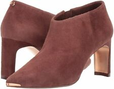TED BAKER LAIYLA BROWN SUEDE ANKLE BOOTS BOOTIES SIZE 4 37 NEW!!!