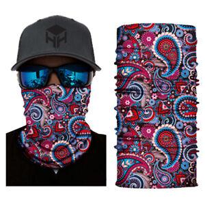 Multi Paisley Balaclava Cycling Neck Tube Scarf Snood Biker Face Mask Bandana
