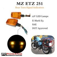 Retro Rear Turn Signal Light Indicators Taillight For MZ ETZ 251 Motorcycle Bike