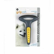 Double Row Undercoat Grooming Brush Rake Comb Massages Skin Toy for Dog Pet