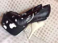 Iron Fist infidélité Peep Toe Plateforme Chaussures UK 4 EUR 37 RARE! dernier. Réduire