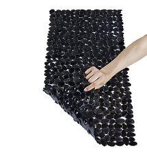 Stone Bath Mats Slip Resistant Shower Black Bathroom Decor Rug Tub Liner New