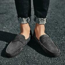 Mens Slip On Loafer Flats Suede Pumps Casual Moccasin-gommino Driving Boat Shoes