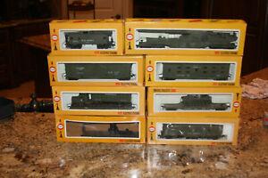Vintage Cox HO Scale U.S. Army Train Set  (8 Pieces Total)