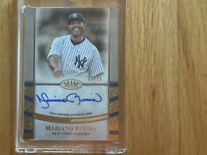 mariano rivera topps tier one autograph card 1/15 Yankees