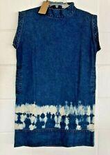 NEW Rachel Comey Womens Ellis The Dreslyn Dress Blue Cotton Tie Dye Hem USA 2