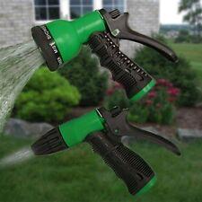 Garden Water Sprayer Hose Soft Grip Nozzle 8 Spray Settings - 2 Pack