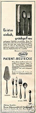 Platura Patent Besteck Bremen Sebaldsbrück Reklame 1930 Silberwarenfabrik Patent