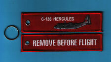C-130 Hercules Remove Before Flight Embroidered Aviation keyring/fob/tag - New